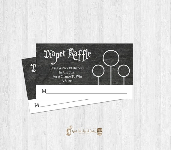 harry potter baby shower diaper raffle ticket shower games printable