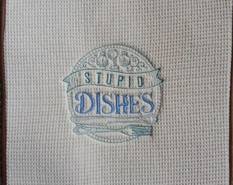 Embroidered Dish Mat