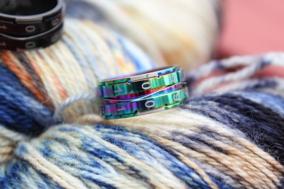 Knitting Counter Ring : Rainbow size knitting counter ring new tool