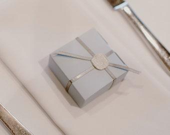 10 Mini Powder Blue Favor Boxes - Wedding Favors Birthday Party Favor Mini Box - DIY Wedding Bridal Shower Baby Shower Supplies