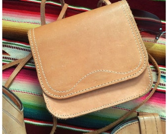 70's bag in natural leather