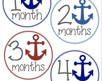 Monthly Onesie stickers- Anchors