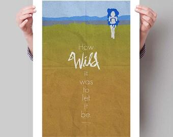 "WILD Minimalist Movie Poster Print - 13""x19"" (33x48 cm)"
