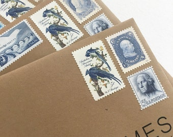 Something Old, and Something New - Post 6 letters in New Classic Forever Stamps and Vintage Postage Stamps