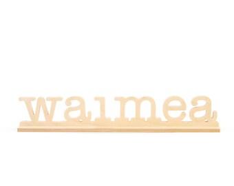 16in Waimea Natural Birch Plaque
