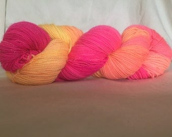 Neon sunrise - Glitter sock