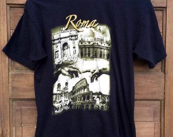Vintage Men's Roma Rome Tourism Tshirt