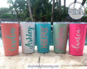 Personalized 20oz SIC Tumbler, Custom SIC Cups, Powder Coated Cup, Powder Coated Tumbler, 20oz Rambler, Monogram Tumblers, Yeti Style