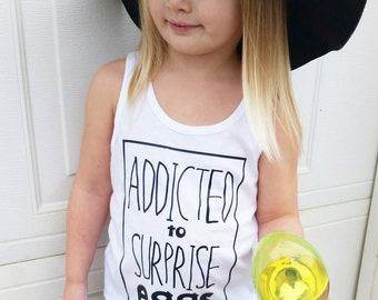 Addicted to surprise eggs baby toddler tank and tee hipsterlittles