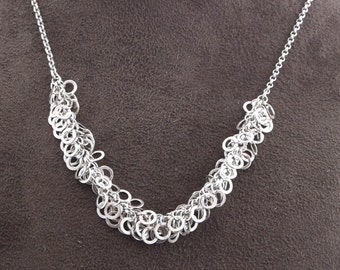Shiny Party Chain Sterling Silver Bead Necklace