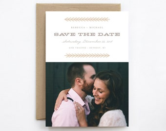 Wedding Save the Date - Evergreen - Photo & Non-Photo