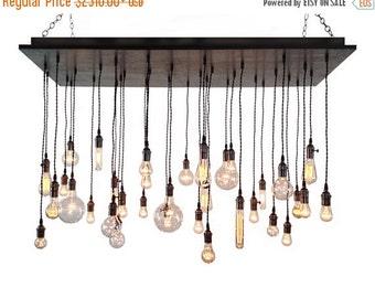 BIG SALE Industrial Chandelier- Rustic Lighting, Modern Chandelier, Edison Bulbs, Dining Room Lighting, Hanging Light Fixture, Urban Chandel