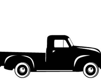 Vintage Pickup Truck Fall Boys SVG Cut File