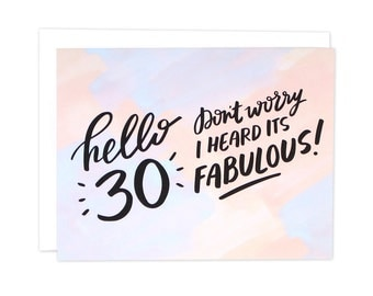 30th Birthday Card, 30th Bday Card, 30th Bday, Dirty 30 Birthday, Hello 30, Hello 30 Birthday Card, Bestie 30th Birthday Card, 30 Card, Bday