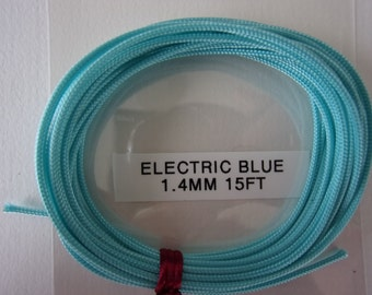 1.4mm ELECTRIC BLUE Braided NYLON Cord very high quality, tight double braid, great for necklaces, shamballa bracelets and many other uses