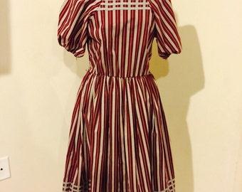 Vintage 1980's Rockabilly Bettie Doll dress