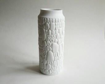 Vintage Porcelain 'Reptil' Vase - AK Kaiser 1960s 1970s