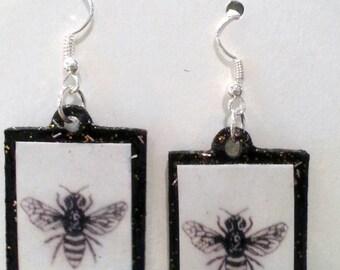 Honey Bumble Bee Earrings