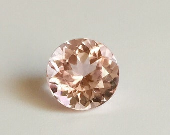 Loose Round morganite stone, not heated rich pink natural morganite stone, round pink 9 mm natural morganite, Loose High Quality Morganite