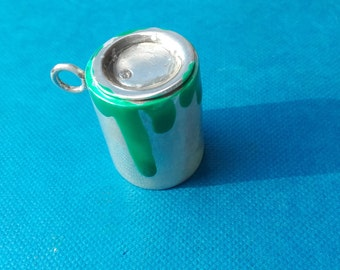 silver box with paint pendant