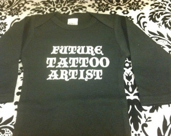 Future tattoo artist  funny ink baby bodysuit long sleeved size and color choice funnys gift girl or boy new