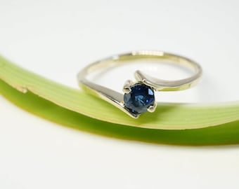 Sapphire Engagement Ring-Sapphire solitaire ring- Solitaire 14K Yellow Gold Ring, Women Jewelry-Sapphire promise ring -Sapphire  gift