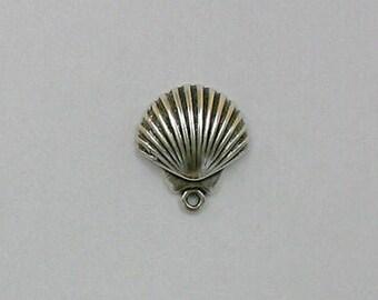 Sterling Silver 3-D Seashell Charm