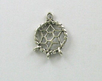 925 Sterling Silver Dream Catcher Charm, Western & Native American Theme Jewelry - west139