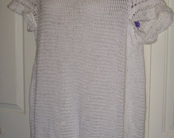 Knitted Short Sleeve Sweater