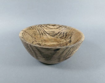 Spinning bowl made from spalted weeping cherry. #1 of 4