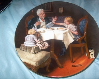 Vintage Norman Rockwell Plate, The  Gourmet, 9th Heritage Collection, Knowles, WAS 10.00 - 20% = 8.00