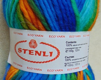 Bulky yarn, 100% merino