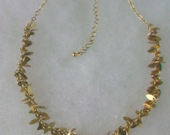 """Vintage Avon SO Choker Necklace Teardrop Gold Tone 15"""" with 3"""" Extender"""