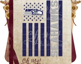 SeaHawks Flag Football Inspired SVG Dxf Eps Png Cutting File Shirt Design