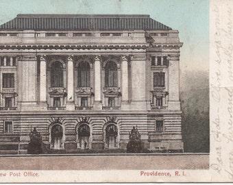 New Post Office, Providence, Rhode Island, Used 1906 Postcard, fair shape