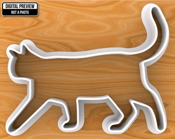Walking Cat Cookie Cutter, Selectable sizes