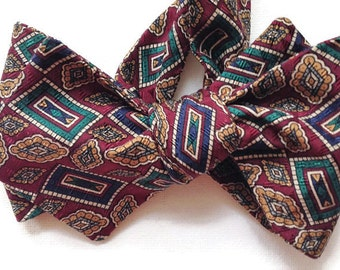 Silk Bow Tie for Men - Cornerstone  - One-of-a-Kind, Handcrafted - Self-tie - Free Shipping