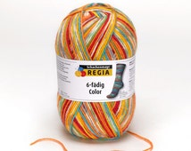 Schachenmyr Regia Square Color 6 ply self striping Sock Yarn- Circus