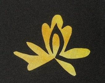 Easy Beautiful Lotus Blossom 2 Flower Quilt Applique Pattern Design