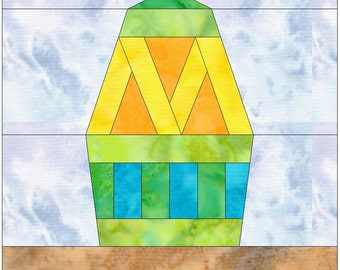 Easter Egg 2 Paper Piece Foundation Quilting Block Pattern PDF