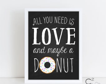Love & Donuts Printable Sign