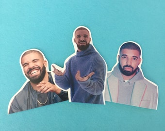 Drake  Champagne Papi Inspired Sticker Set