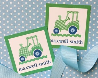 personalized tractor gift enclosures