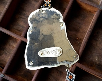 Ghosts: Tin Type Necklace with Three Ghostly Figures