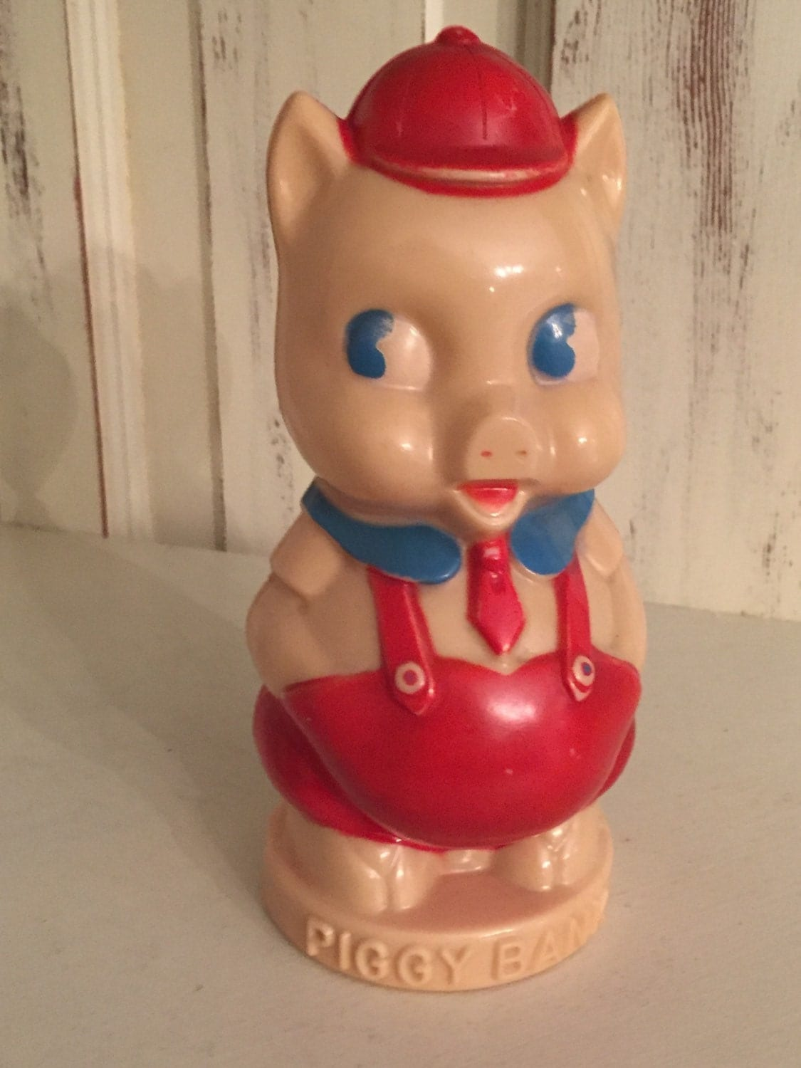 Retro plastic pig piggy bank childrens room d cor vintage Plastic piggy banks for kids