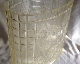 Vintage Acryllic Sunburst Trash Can/ Waste Basket