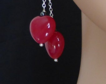 Love Hearts in Agati Agate Drop Earrings