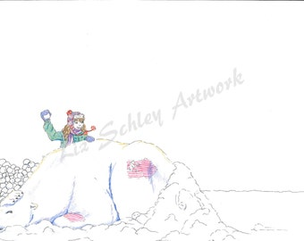 Snowball Fight Part 1 by Liz Schley - Certainties of Innocence 13, Limited Edition Signed Print, 8 x 10
