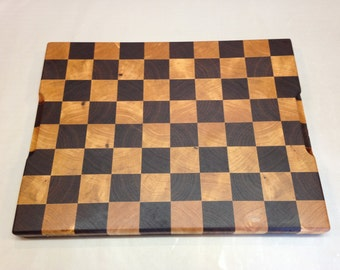 Maple and Walnut End Grain Cutting Board Checker Large