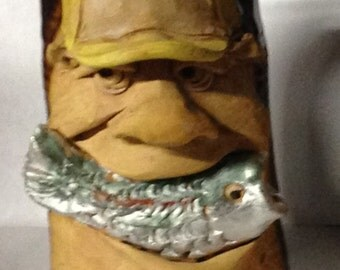 FISHERMAN FACE MUG in Hand Crafted Stoneware